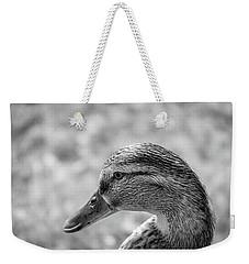 Mallard In Monochrome Weekender Tote Bag