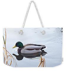 Mallard Reflected Weekender Tote Bag by Margaret Brooks