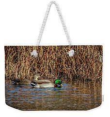 Mallards At The Marsh Weekender Tote Bag