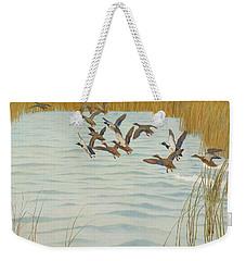 Mallards In Autumn Weekender Tote Bag