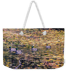 Mallards On Autumn Pond Weekender Tote Bag