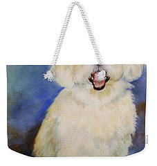 Weekender Tote Bag featuring the painting Maltese Named Ben by Marilyn Jacobson