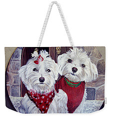 Maltese Pair Weekender Tote Bag