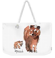 Mama And Baby Series Bear Weekender Tote Bag