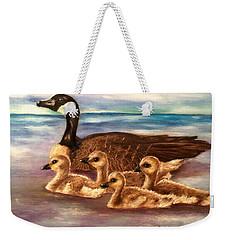 Mama And Ducklings Weekender Tote Bag