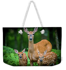Mama And Fawns Weekender Tote Bag