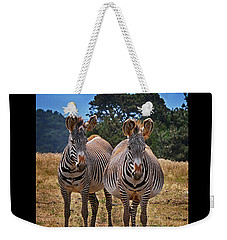 Weekender Tote Bag featuring the photograph Mama And Friend by Melinda Hughes-Berland