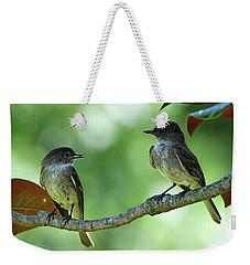 Mama And Papa Kingbird Weekender Tote Bag