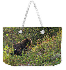 Weekender Tote Bag featuring the photograph Mama Bear Loves Summer Berries by Yeates Photography