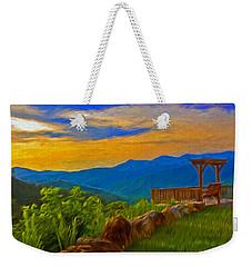 Blue Ridge Sunset From Mama Gertie's Hideaway Weekender Tote Bag