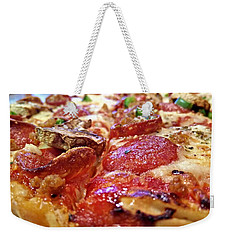 Weekender Tote Bag featuring the photograph Mama Lido's Pizza by Robert Knight