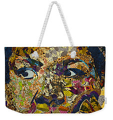 Weekender Tote Bag featuring the tapestry - textile Mama's Watching by Apanaki Temitayo M