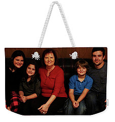 Weekender Tote Bag featuring the photograph Mamma And Kids by Gene Gregory