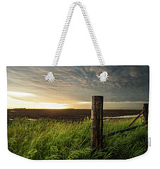 Weekender Tote Bag featuring the photograph Mammatus Sunset by Aaron J Groen