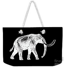 Mammoth White Ink Tee Weekender Tote Bag