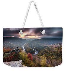 Man Above A River Meander Weekender Tote Bag