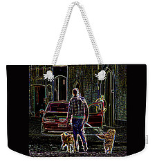 Man And Best Friends Weekender Tote Bag