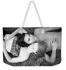 Man And Woman, Head-to-head, 1973 Weekender Tote Bag