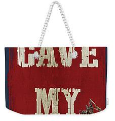 Man Cave Rules Weekender Tote Bag