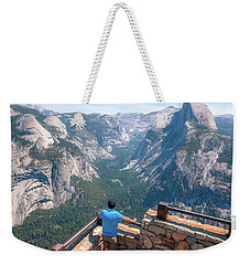 Weekender Tote Bag featuring the photograph Man In Awe- by JD Mims