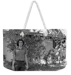 Man In Front Of Cinder-block Home, 1973 Weekender Tote Bag