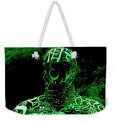 Man In Green Weekender Tote Bag