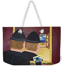 Man In The Mirror Weekender Tote Bag by Thomas Blood