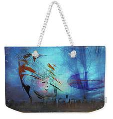 Weekender Tote Bag featuring the digital art Man Is Art by Richard Ricci