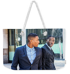 Man Looking At Mirror Weekender Tote Bag