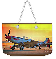 Man O War At Sunset Weekender Tote Bag