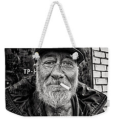 Weekender Tote Bag featuring the photograph Man Of Freedom by John Williams