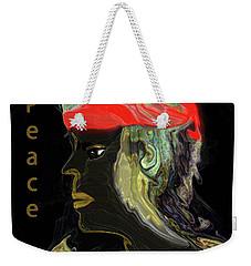 Weekender Tote Bag featuring the digital art Man Of Peace by Sherri Of Palm Springs