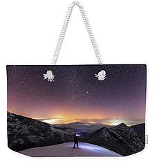 Man On Mars Weekender Tote Bag