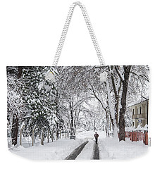 Weekender Tote Bag featuring the photograph Man On The Road by Okan YILMAZ