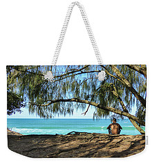Man Relaxing At The Beach Weekender Tote Bag