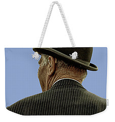 Man With A Bowler Hat Weekender Tote Bag