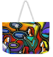 Weekender Tote Bag featuring the painting Manager  by Leon Zernitsky