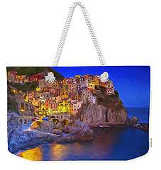 Manarola By Moonlight Weekender Tote Bag