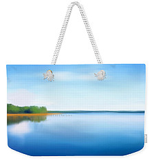 Weekender Tote Bag featuring the painting Manasquan Reservoir by Catia Lee