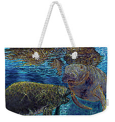 Manatee Motherhood Weekender Tote Bag