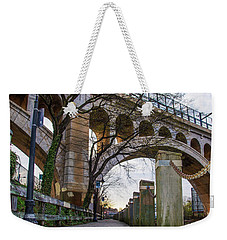 Manayunk - Towpath And Bridge Weekender Tote Bag by Bill Cannon