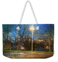 Manchester Street With Light And Trees Weekender Tote Bag