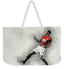 Manchester United's Zlatan Ibrahimovic Celebrates Weekender Tote Bag by Don Kuing