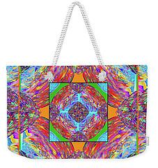 Weekender Tote Bag featuring the digital art Mandala #1 by Loko Suederdiek