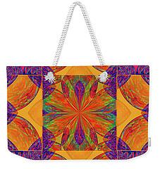 Weekender Tote Bag featuring the digital art Mandala #2  by Loko Suederdiek