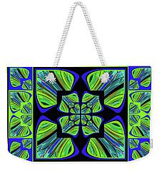 Weekender Tote Bag featuring the digital art Mandala #22 by Loko Suederdiek