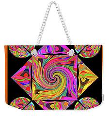 Weekender Tote Bag featuring the digital art Mandala #50 by Loko Suederdiek