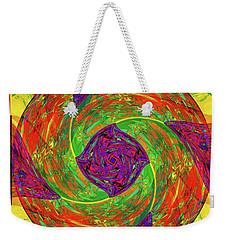 Weekender Tote Bag featuring the digital art Mandala #55 by Loko Suederdiek