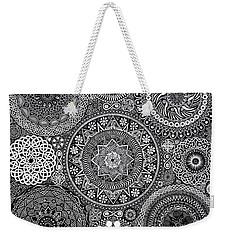 Mandala Bouquet Weekender Tote Bag