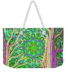 Mandala Forest Weekender Tote Bag